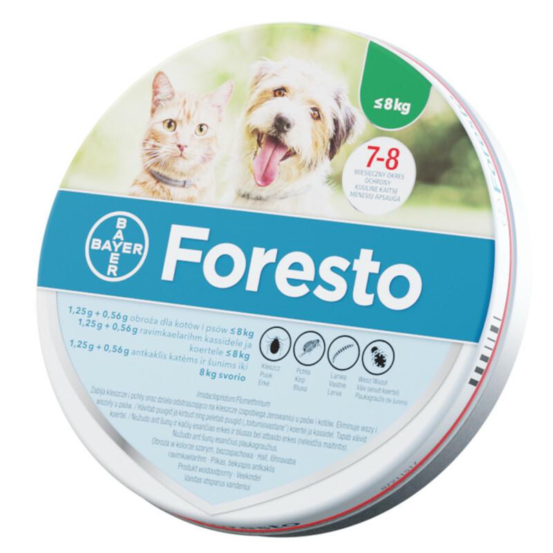 Bayer Foresto- obroża przeciw pchłom i kleszczom dla kotów i psów do 8kg wagi ciała