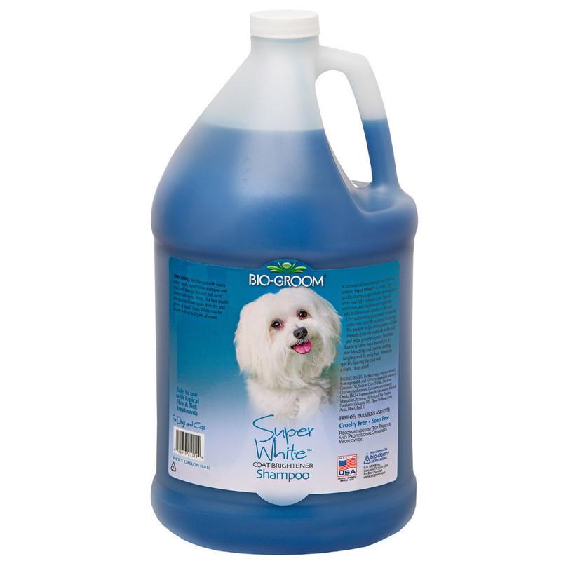 Bio-Groom SUPER WHITE szampon rozjaśniający kolor 3,78l
