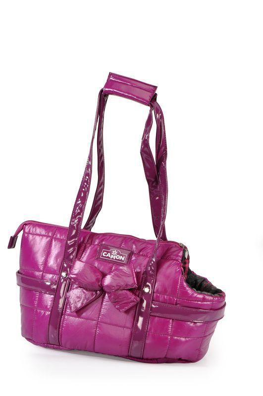 Camon Romeo e Giulietta- pikowana torba do transportu dla psa, kolor fioletowy