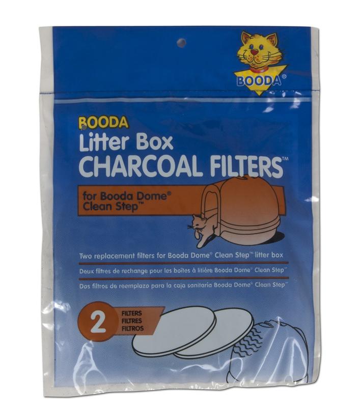 Booda Clean Step Filters- filtry węglowe do kuwety ze schodkami Cleanstep, 2 sztuki