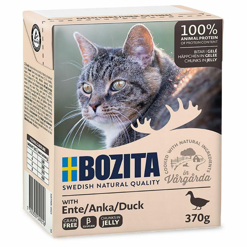 Bozita Ente/ Duck- karma dla kota z kaczką w galaretce, karton 370g Zawartość mięsa 93 %!