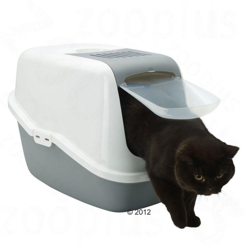 a1ee0e471b940f Savic Nestor Jumbo- kryta kuweta dla dużych kotów, kolor szary dla kotów