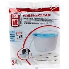 Hagen Dogit Fresh & Clear- filtr okrągły wymienny do pojnika automatycznego dla małych psów i kotów, 3 sztuki