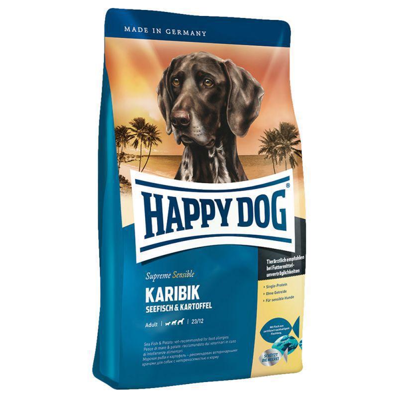 HAPPY DOG KARIBIK - sucha karma dla psów wrażliwych z mięsem ryb morskich