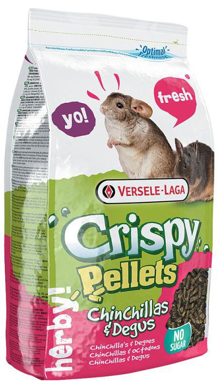 VERSELE-LAGA Crispy Pellets Chinchillas & Degus - profesjonalna karma dla koszatniczek, 1kg