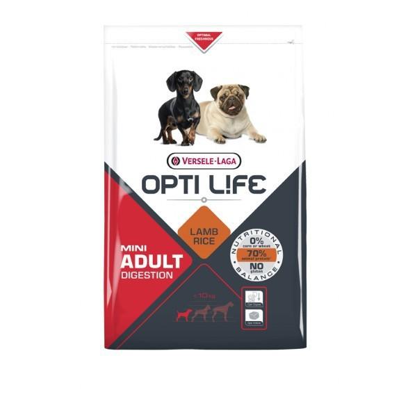 VERSELE LAGA Opti Life Adult Digestion Mini - pełnowartościowa karma dla małych psów (<10kg) o wrażliwym przewodzie pokarmowym