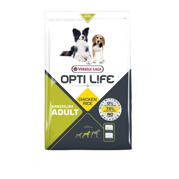 VERSELE LAGA Opti Life Adult Medium - pełnowartościowa karma dla średnich ras psów