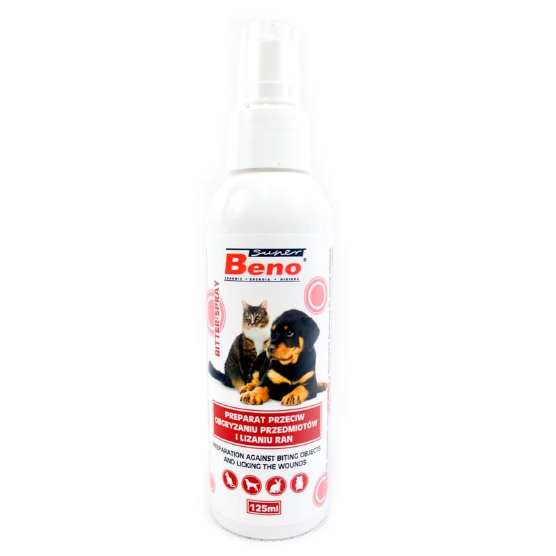 BENO Bitter Spray - preparat przeciw obgryzaniu przedmiotów i lizaniu ran 125ml