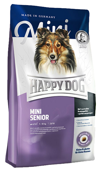 happy dog mini senior karma dla starszych ps w ras ma ych dla ps w. Black Bedroom Furniture Sets. Home Design Ideas
