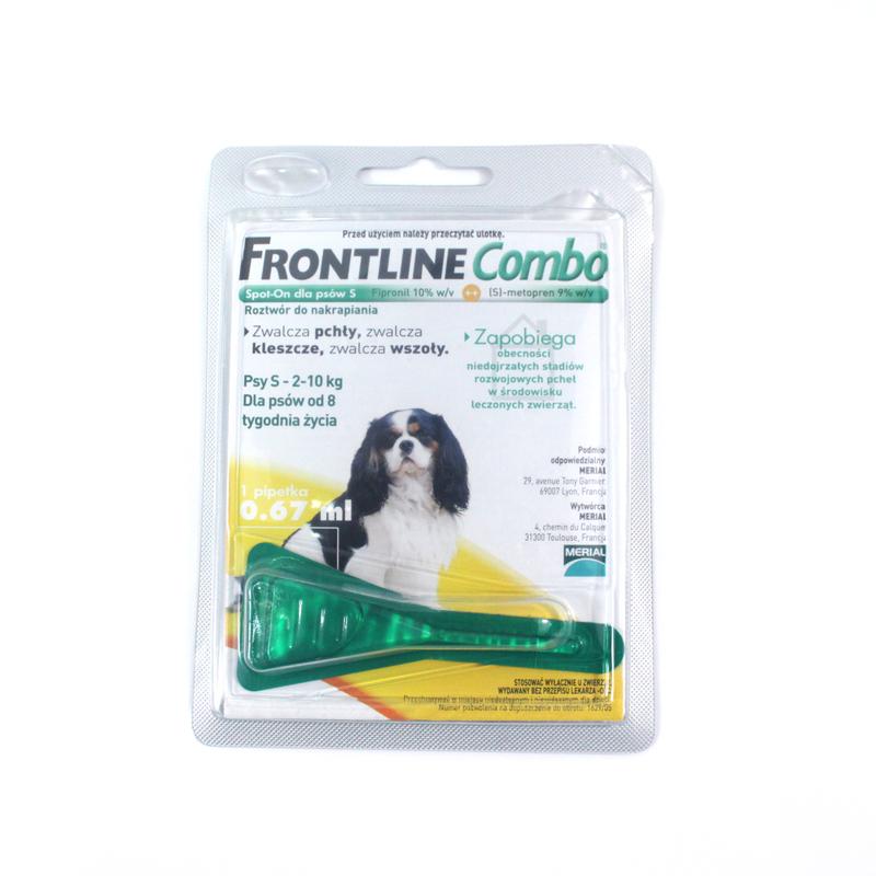 FRONTLINE Combo S - środek przeciw pchłom i kleszczom dla psów ras małych (od 2 do 10kg), pipeta 0,67ml