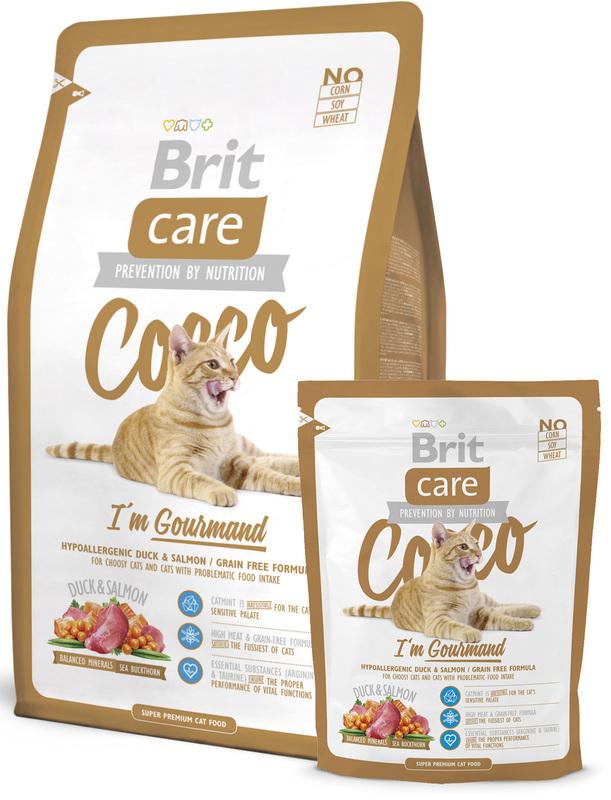 BRIT CARE CAT COCCO I'M GOURMAND - bezzbożowa karma dla wybrednych kotów