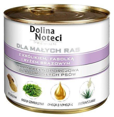 DOLINA NOTECI - pełnowartościowa karma dla dorosłych psów ras małych z królikiem, 185g