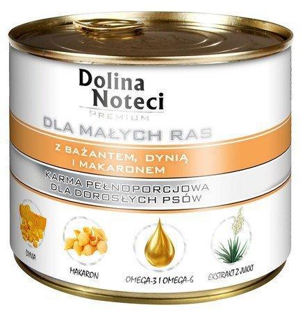 DOLINA NOTECI - pełnowartościowa karma dla dorosłych psów ras małych z bażantem, 185g