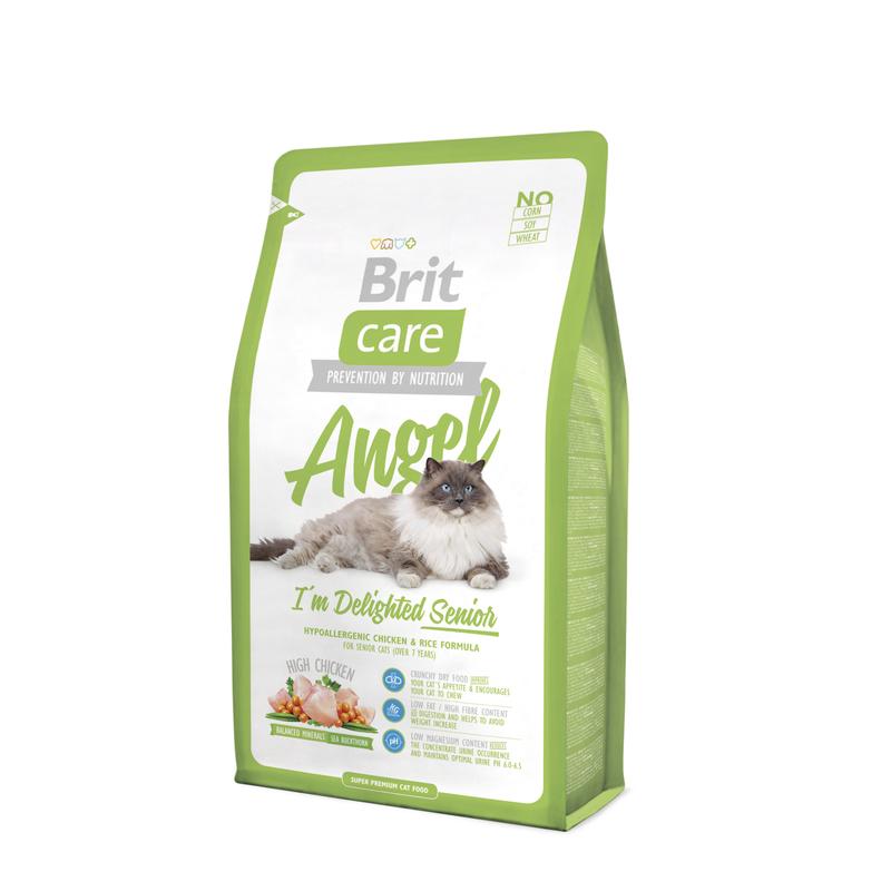BRIT Care Angel I'm Delighted Senior - hipoalergiczna karma dla starszych kotów (>7 lat), 400g