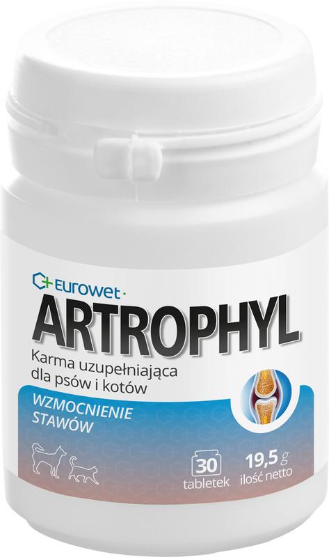 EUROWET Artrophyl - karma uzupełniająca dla psów i kotów, 30 tab.