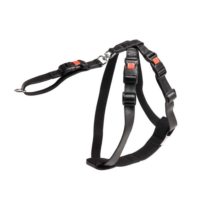 Karlie Art Leather - pasy bezpieczeństwa i szelki dla psa ze specjalnym klipsem zabezpieczającym, L/XL