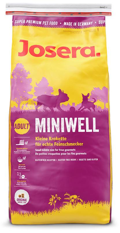 JOSERA Miniwell - lekkostrawna karma dla dorosłych psów małych ras