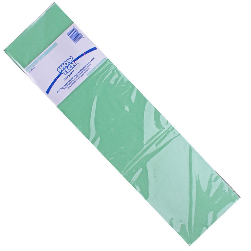 Show-tech - japoński papier ryżowy do papilotów, zielony