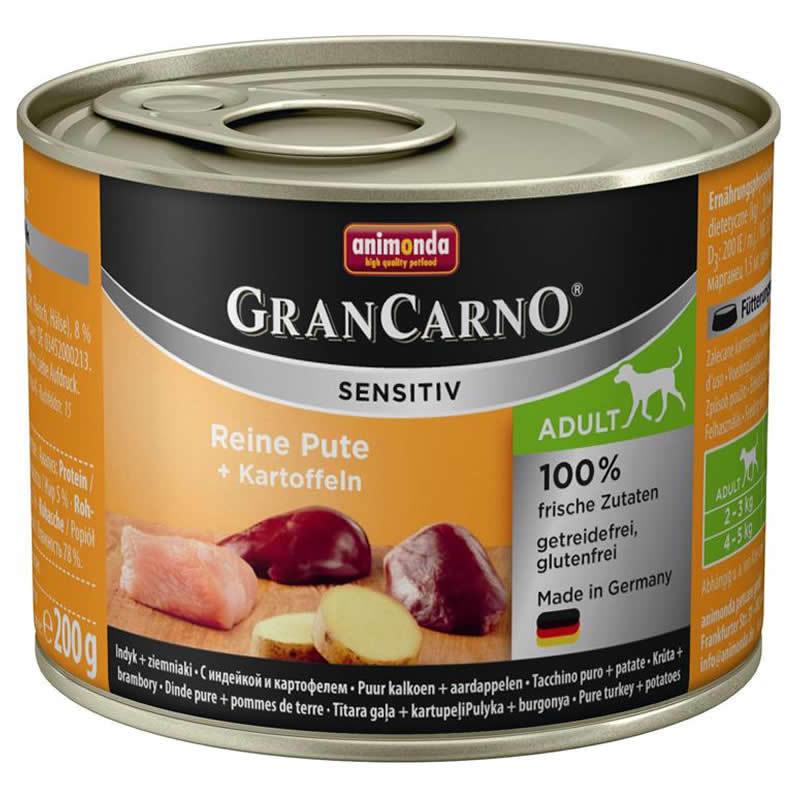 ANIMONDA GranCarno Adult Sensitiv Indyk z Ziemniakami - karma hipoalergiczna dla psa