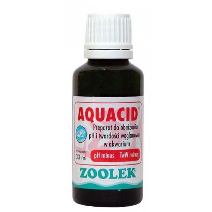 Zoolek Aquacid - preparat do obniżania pH i twardości węglanowej w akwarium, 30ml