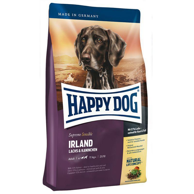 HAPPY DOG IRLAND - sucha karma dla psów dorosłych z mięsem łososia i królika