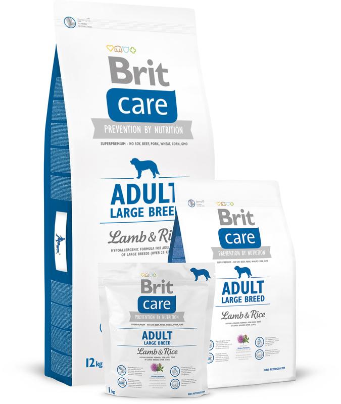 Brit Care Adult Large Breed Lamb & Rice - karma dla psów ras dużych z jagnięciną