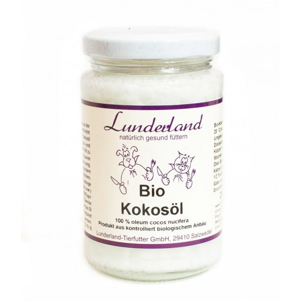 Lunderland Bio Kokosol - olej kokosowy dla psa i kota, 200ml