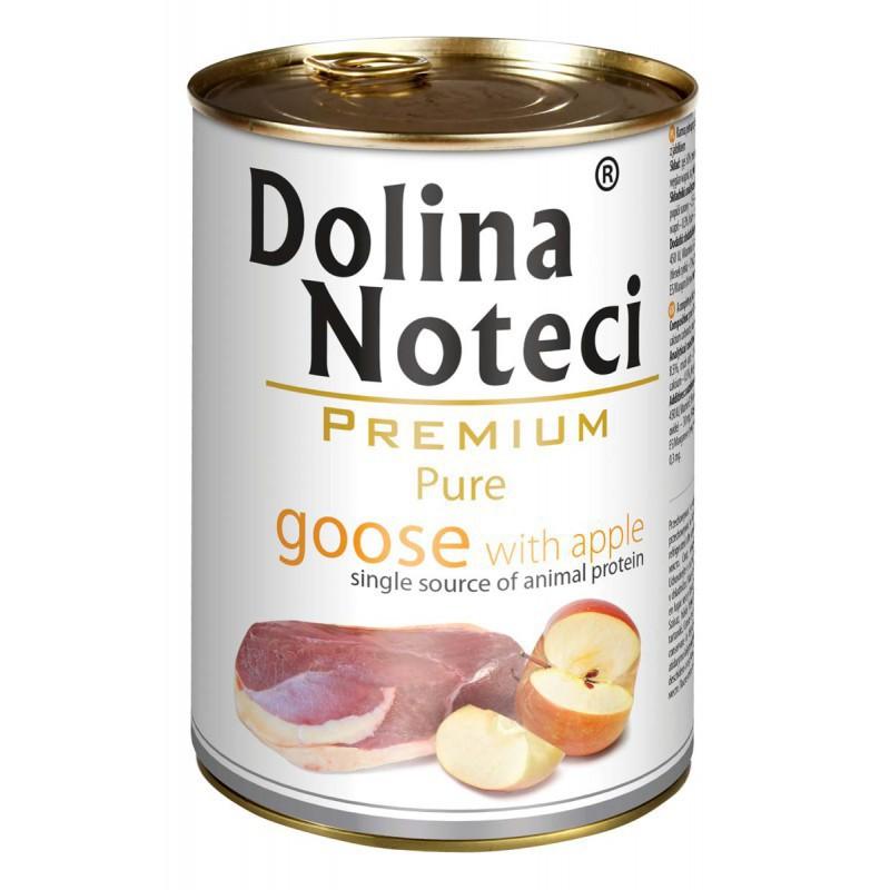 DOLINA NOTECI Pure Gęś z jabłkiem - mokra karma dla psów dorosłych,