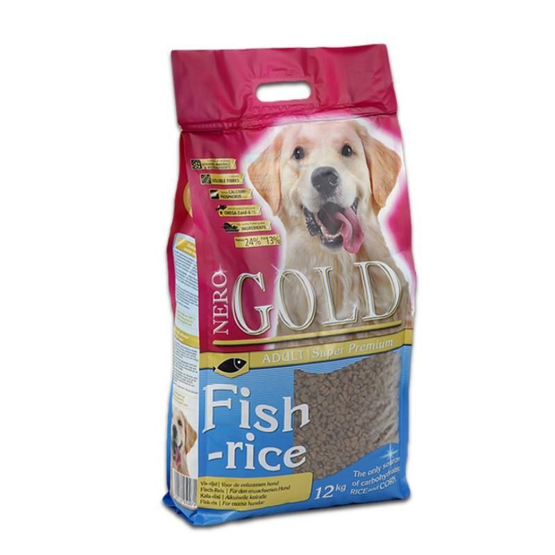 Nero Gold Fish & Rice - Karma dla psów dorosłych, łosoś z ryżem