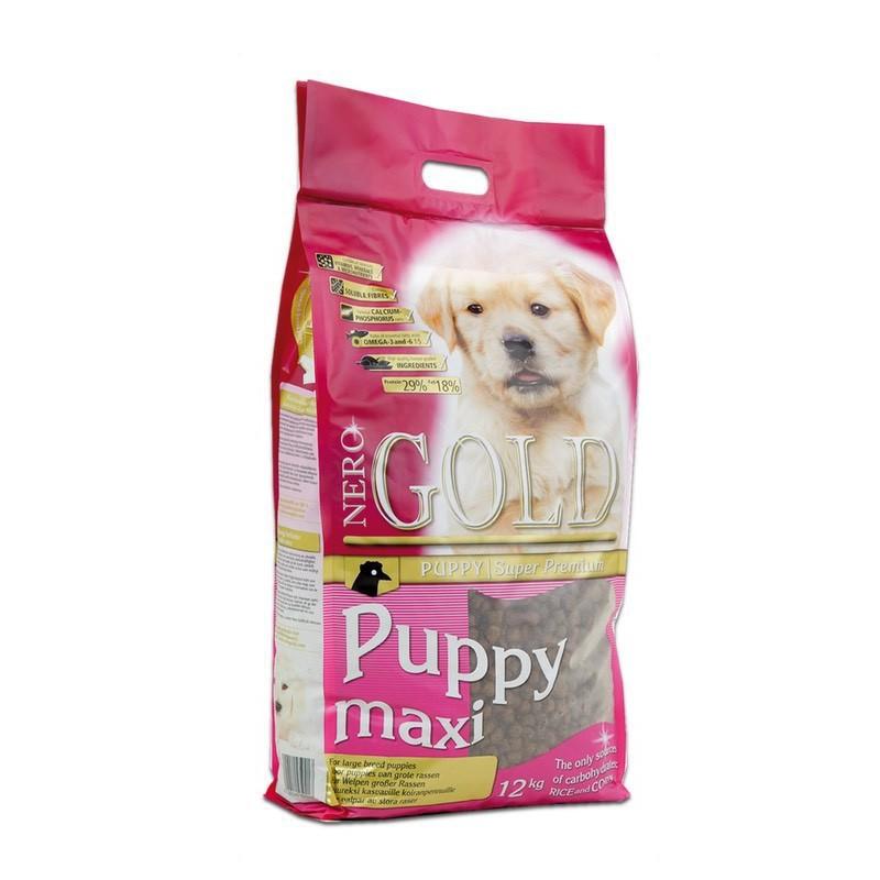 Nero Gold Puppy Maxi - Karma dla szczeniąt ras dużych od 7 tygodnia życia, 12KG
