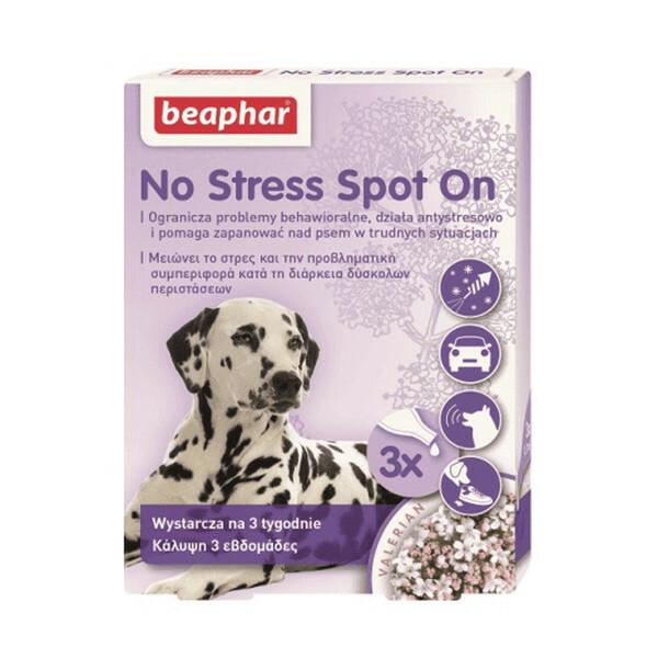 Beaphar No Stress Spot On - krople uspokajające dla psów, 3 x 0,7 ml