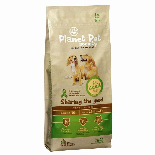 Planet Pet Society Adult - karma sucha dla psów dorosłych ras średnich