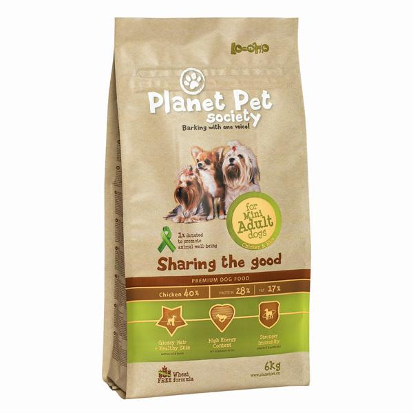 Planet Pet Society Adult Mini - karma sucha dla psów dorosłych ras małych