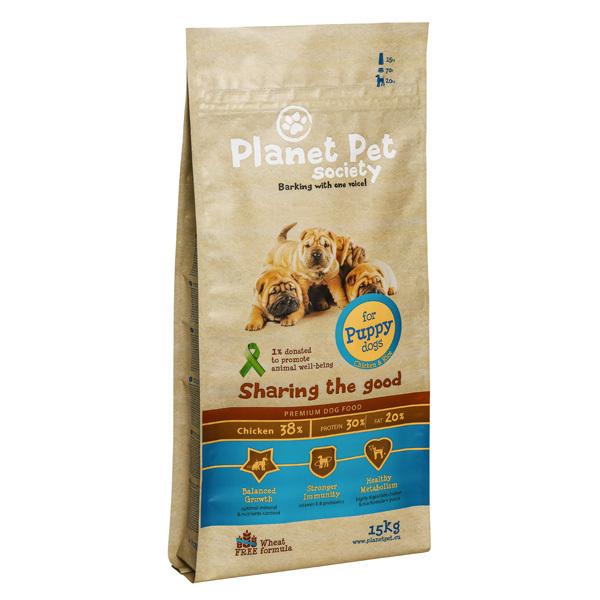 Planet Pet Society Puppy - karma sucha dla szczeniąt, 2-12 miesiąca życia