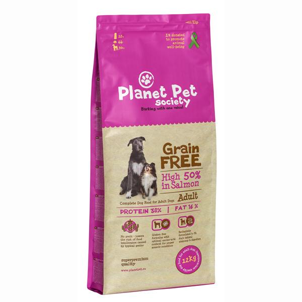 Planet Pet Society Grain-Free Salmon - karma sucha dla psów bez dodatku zbóż