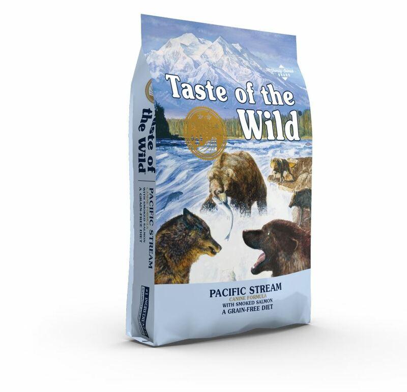 Taste of the Wild Pacific Stream Canine - sucha karma dla psów wrażliwych, świeży wędzony łosoś i słodkie ziemniaki