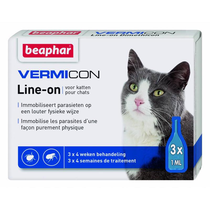 Beaphar VERMICON CAT - Preparat na ektopasożyty dla kotów/kociąt, 3x1mm