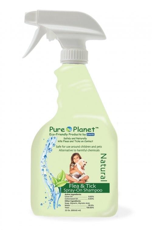Pure Planet Natural Flea and Tick szampon przeciwpchelny w sprayu, 650ml