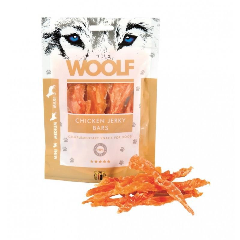 Woolf Chicken Jerky Bars - przysmak dla psów z kurczaka w 100% naturalny, 100g