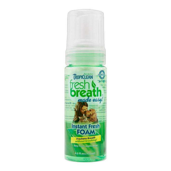 TROPICLEAN Fresh Mint Foam pianka do pielęgnacji zębów i dziąseł psów i kotów.