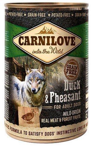 CARNILOVE WILD WET DUCK & PHEASANT FOR ADULT DOGS - kaczka i bażant - Mokra karma dla dorosłych psów, 400g