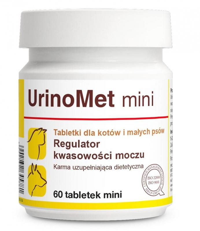 DOLFOS - UrinoMet mini - Regulator kwasowości moczu, dla kotów i psów małych ras.