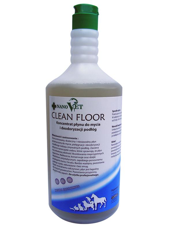 NANO VET – CLEAN FLOOR - środek nowej generacji do czyszczenia i deodoryzacji podłóg, koncentrat 1L