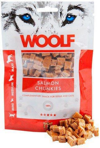 Woolf Salmon Chunkies - przysmak dla psa, kawałki łososia, 100g