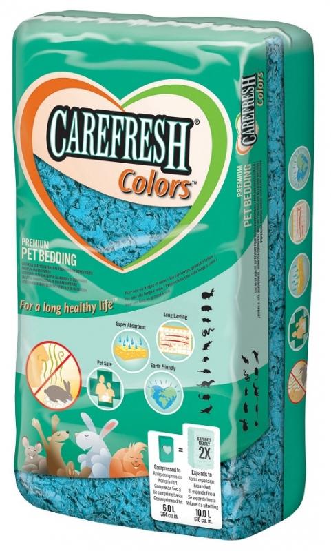 Chipsi Carefresh Colors niebieska - miękka, puszysta podściółka dla małych zwierząt, 10L