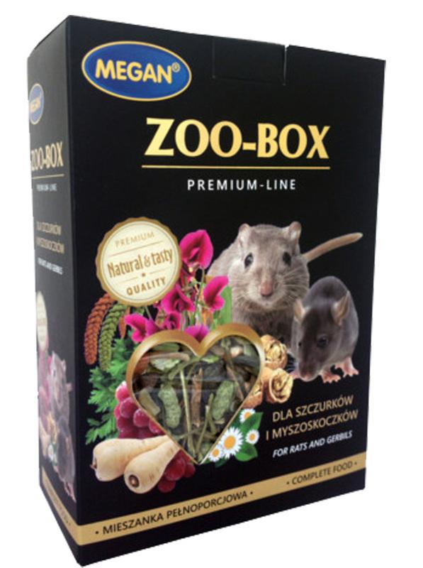 MEGAN ZOO–BOX Premium Line, mieszanka dla szczurków i myszoskoczków, 550g
