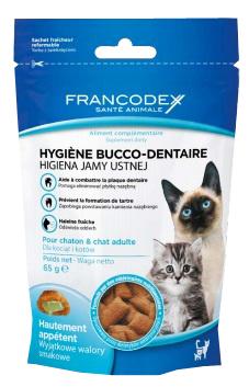 FRANCODEX - Higiena jamy ustnej, przysmak dla kotów, 65g