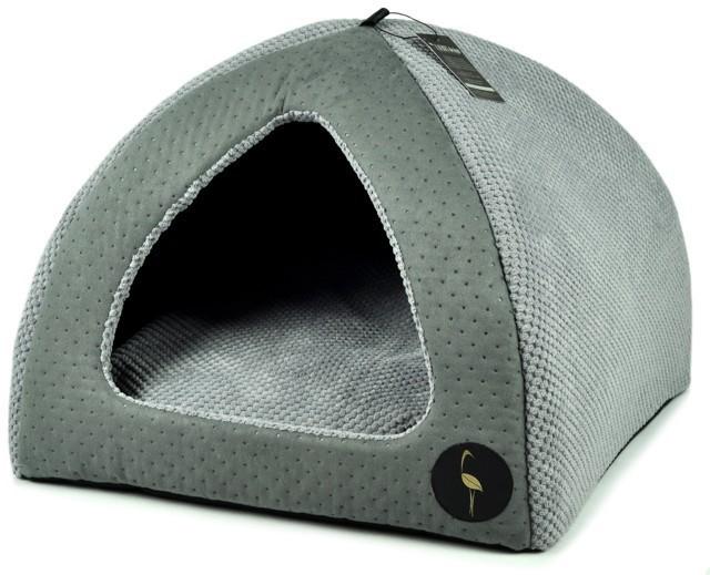 LAUREN - BELLA - Budka dla psa lub kota, popielata, 50x50cm
