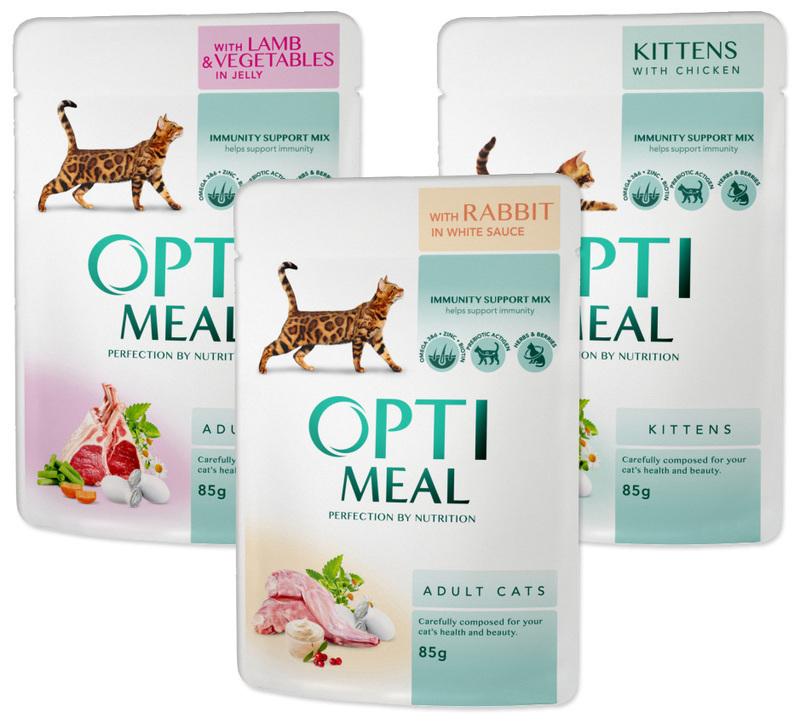 OPTI MEAL - Mokra karma dla kotów, 85g
