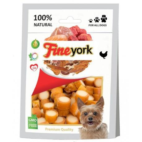 FINE YORK KRĄŻKI KURCZAK-SER - Przysmaki dla psa